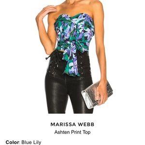 Marissa Webb Ashten Print Strapless Brand New Top